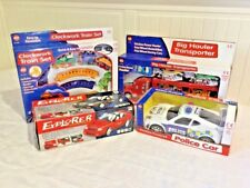 KIDS CHILDREN BOY TOY CARS, TRAIN SET, BIG HAULER,POLICE CITY PATROL ,FOSSIL