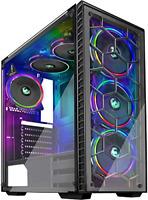 MUSETEX Phantom Black ATX Mid-Tower Desktop Computer Gaming Case USB 3.0 Ports