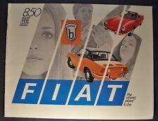 1970 Fiat 850 Catalog Brochure Racer Spider Coupe Sedan Excellent Original 70