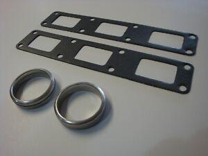 (0492) Jaguar 6 Cyl. Xke Etype & Sedan Exhaust Manifold Gaskets & Donut Seals