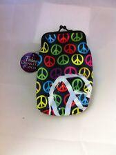 Peace Signs Nylon Soft Cigarette Case 100's Nwt