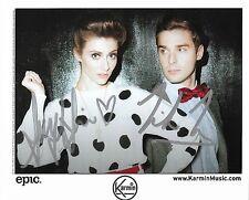 KARMIN pop duo REAL hand SIGNED promo photo of Amy Heidemann Autographed #2