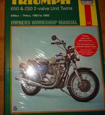 Pièces détachées Haynes pour motocyclette Triumph