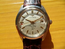 Vintage SWISS TECHNOS Star Chief 100M 21 Jewels Manual Men's Watch,date