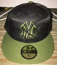 NEW YORK YANKEES NEW ERA 59FIFTY MEMORIAL DAY FITTED HAT GREEN/BLACK SIZE 7 1/2