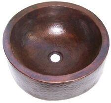 Hammered Round Apron Bathroom Copper Sink
