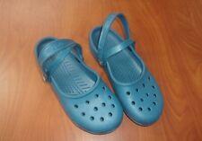 Crocs Solid Blue Womens Clogs Shoes 8