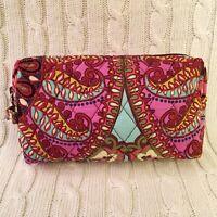 Vera Bradley Medium Cosmetic Bag Resort Medallion Travel Cotton NWT MSRP $28