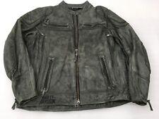 Harley-Davidson Mens Carboy Leather Jacket SIZE XXL Charcoal 97105-16VM/022L