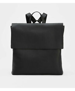 Eileen Fisher Black Buttery  Leather Backpack Bag $318