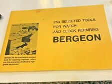 Bergeon Manual 250 tools Reference book  for Watch and Clock Repair 25 pgs