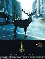 PUBLICITE ADVERTISING 065  2001  GLENFIDDICH   Whisky LA VALLEE des CERFS
