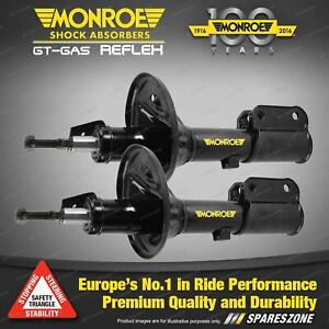 Pair Front Monroe Reflex Shock Absorbers for FORD LASER KF KH Sedan Hatch Coupe
