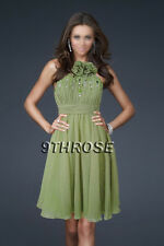 CUTE BABY DOLL! BEADED PLEATED GREEN PARTY/COCKTAIL/BRIDESMAID DRESS AU 18/US 16