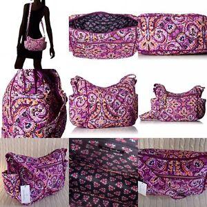 Vera Bradley Iconic On The Go Crossbody Purse Dream Tapestry Purple NWT  $80