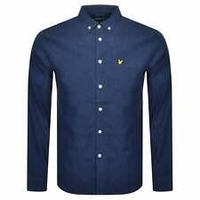 Lyle & Scott Indigo Blue Stretch Denim Shirt Long Sleeve LW910V
