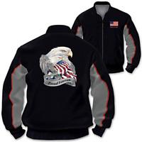 "Bradford Exchange ""Veterans Salute"" Men's Jacket Coat Jody Bergsma Eagle Art XL"