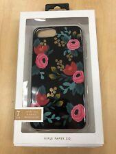 "Rifle Paper Co. Black Rose floral Case iPhone 6 6s 7 8 Plus 5.5"" 4613I"