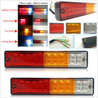 2 x 12V 20 LED ABS Truck Trailer Pickup Tail Rear Stop Reverse Light Waterproof