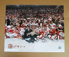 Red Wings 2002 Stanley Cup Center Ice 16 x 20 Color Photo