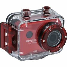 Vivitar DVR786HD-RED-INT1080p HD Waterproof Action Video Camera Camcorder (Red)
