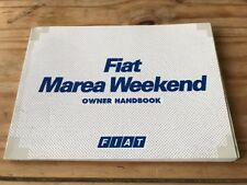 FIAT MAREA WEEKEND HANDBOOK years 1996-2002.   188 Pages.