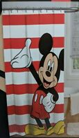 Mickey Mouse Fabric Shower Curtain 72 x 72 Inches NWT Disney