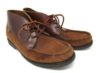 Sebago X Vane Mens Brown Leather And Suede 3-Eye Ankle Boots Size US 9 M
