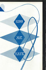 Kiss Me Kate Program Arena Theatre Rochester NY 1950s Gilbert Adkins