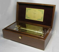BRAND NEW Music Box ORPHEUS All Walnut box 72 note Canon 3 parts Sankyo Japan