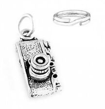 STERLING SILVER PHOTOGRAPHER'S CAMERA CHARM WITH ONE SPLIT RING