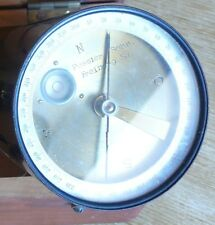 Antique German compass Pessler and Sohn. Freiberg. Sa. in a wooden box (s3390)