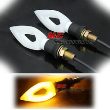 White Knife LED Turn Signal Light Indicators For Yamaha YZF R1 R6 FZ1 FZ8 FZ6 S