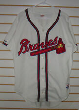 ATLANTA BRAVES RAWLINGS HOME JERSEY BLANK BACK EARLY 1990's FREE SHIPPING