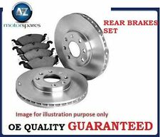 FOR PEUGEOT 207 1.6 + CC + ESTATE  2006-> REAR BRAKE DISCS SET AND DISC PADS KIT
