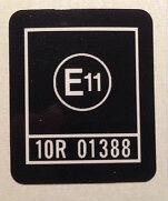 """KAWASAKI Z1300 """"E11"""" HEADSTOCK CAUTION WARNING DECAL"""