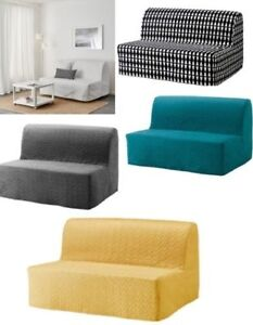 Ikea LYCKSELE Two Seat Sofa Bed Covers ONLY,5 Colours,Removable & Washable,New