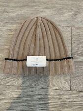 NWT Brunello Cuccinelli 100% Cashmere Beanie Size XL Retail $425.00