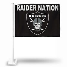 Oakland Raiders NFL Licensed 11X14 Window Mount 2-Sided Car Flag