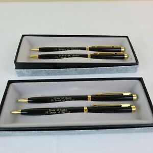 Vintage State of Idaho 2 Sets In Box 10 Year Ballpoint Pen And Mechanical Pencil