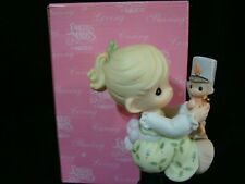 Precious Moments-Girl w/Toy Soldier-Christmas Bang-Limited Edition 2001