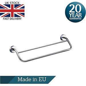 Bathroom Double Towel Rail - 50cm or 60cm, Stainless Steel 3M Self Adhesive
