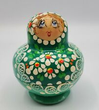 Vintage Matreshka Nesting Doll ~ 5 Pieces Hand Crafted in Russia ~ Approx 2.75