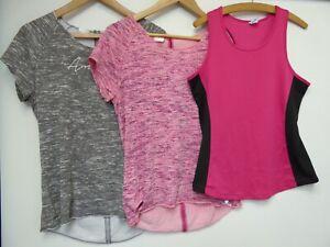 3 Ladies Sportswear Gym Keep Fit Tops Size 12-14  Y62 C23
