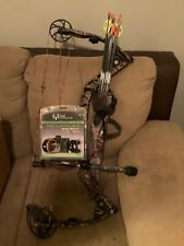 mathews compound bow, arrows, quiver, mechanical release, 5-pin sight