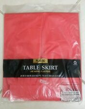 """Plastic Red Table Skirt 29"""" x168"""" [ 33.9 SQ FT] 3.11m2 Party Occation Decoration"""