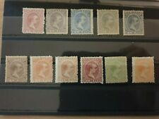 More details for philippines 1890-97 spanish philippines child king alfonso xii 11 stamps mlh