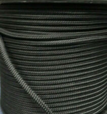 8MM X 50Mtr DOUBLE BRAID POLYESTER YACHT ROPE - SOLID BLACK
