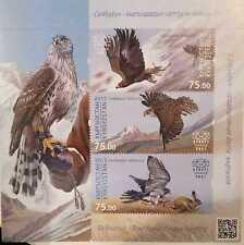 O) 2015 KYRGYZSTAN, BIRD OF PREY -AUSTRINGER -FALCONRY-HUNTING OF ANIMALS A TRAI