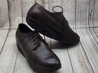 MBT Brown Leather Rocker Toning Shoes Men's US 11 / 11.5 EUR 45